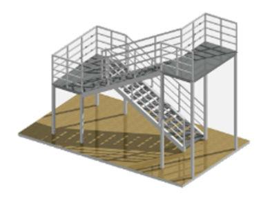 Стальные лестницы, площадки, стремянки и ограждения
